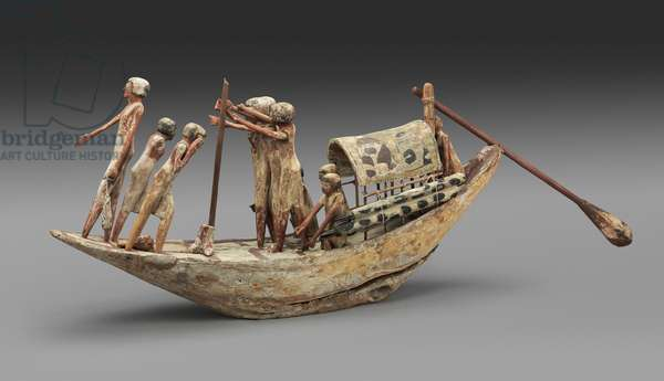 Model of a transport boat with a portable cabin, Middle Kingdom, late Dynasty 11 -– early Dynasty 12, 2010–-1961 B.C. (wood)