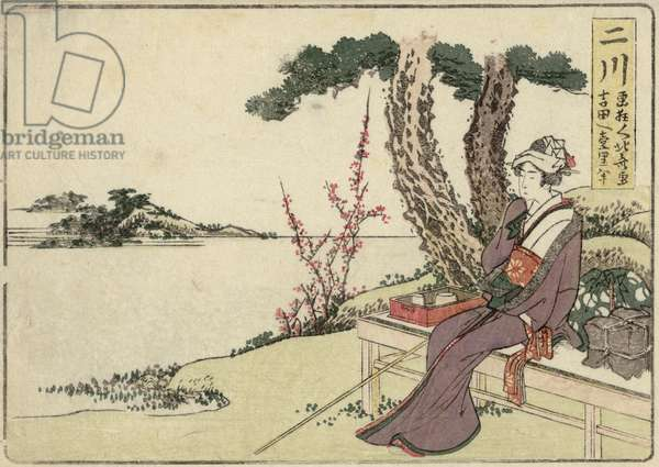 Futakawa, from an untitled series of the Fifty-three Stations of the Tôkaidô Road, c.1804 (colour woodblock print)