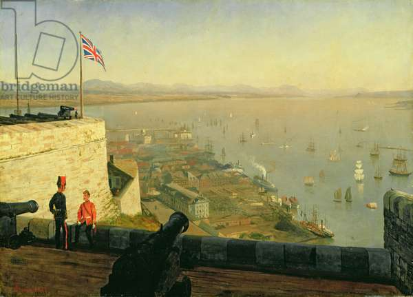 St. Lawrence River, from the Citadel, Quebec, c.1880 (oil on paper mounted on canvas)