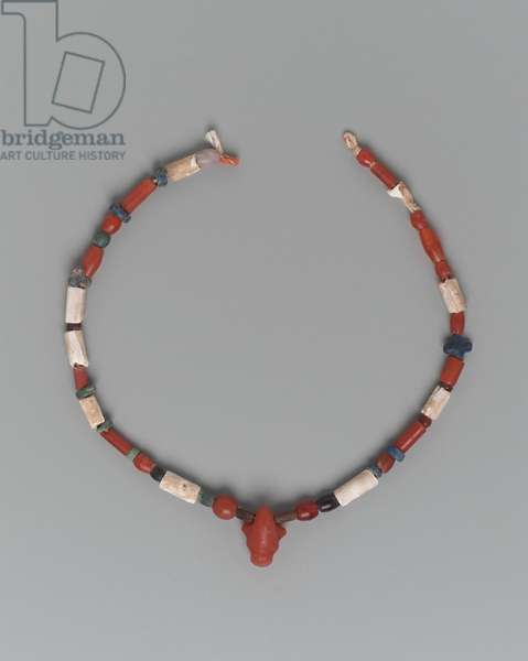 Necklace, Early Dynastic Period, Dynasty 1–2, 2960–-2649 B.C. (carnelian, limestone, quartz & faience)