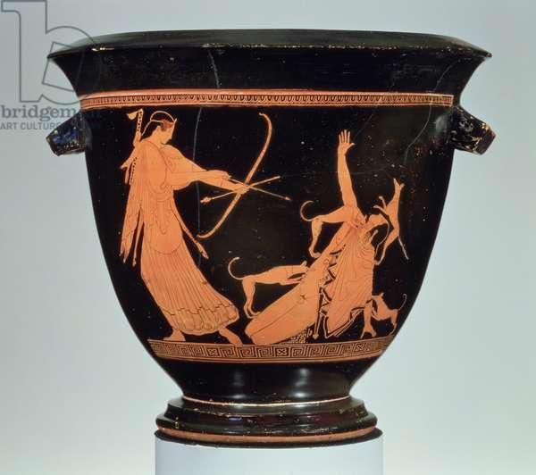 Attic red-figure bell krater (mixing bowl) Italy, said to be from Cumae, made in Athens, Early Classical Period, c.470 BC (pottery)