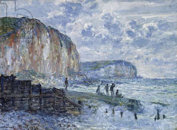 Cliffs of the Petites Dalles, 1880 (oil on canvas)