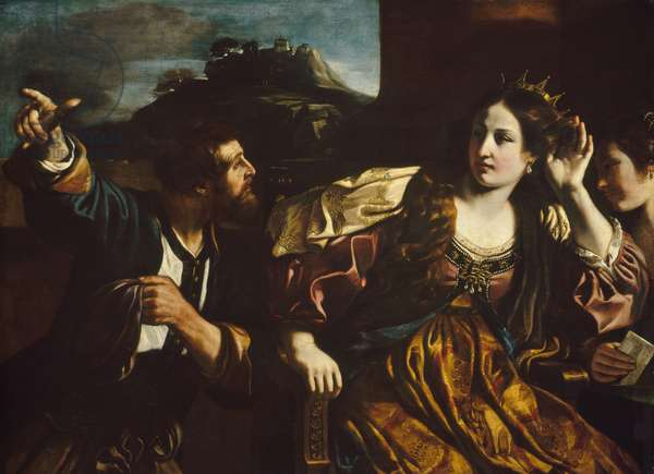 Semiramis Receiving Word of the Revolt of Babylon, 1624 (oil on canvas)