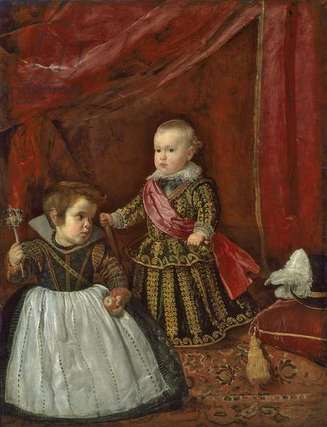 Don Baltasar Carlos with a Dwarf, 1632 (oil on canvas)