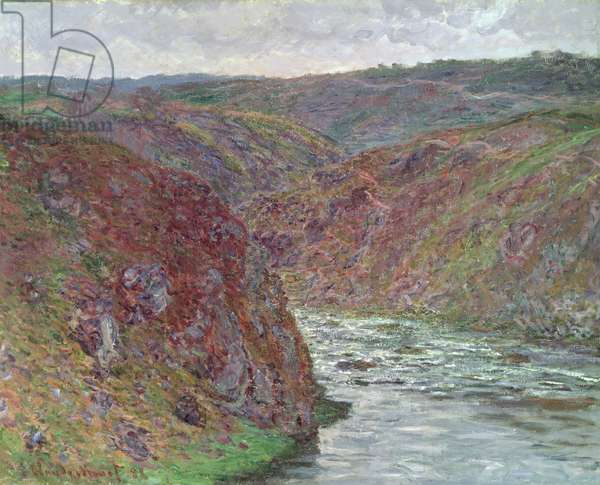 Valley of the Creuse (Grey Day) 1889 (oil on canvas)