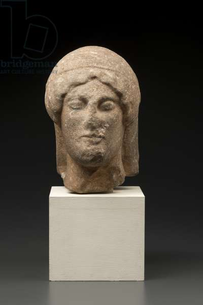 Head probably from a sphinx, c.480 BC (marble)