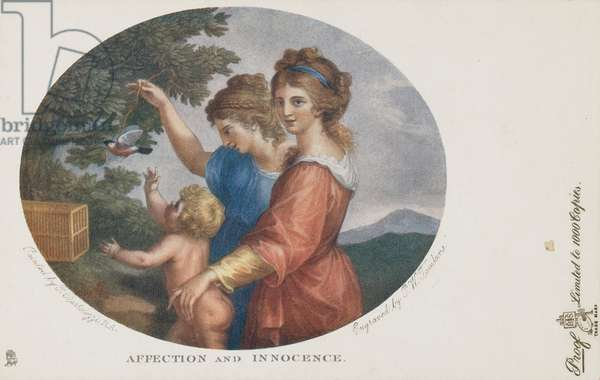 Affection and Innocence, engraved by P. W. Tomkins, c.1902 (colour litho)