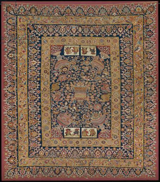 Cover, mid-18th century or later (wool & cotton interlocked tapestry and dovetailed tapestry with eccentric wefts)