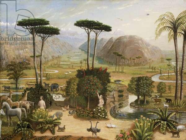 The Garden of Eden, c.1860 (oil on canvas)