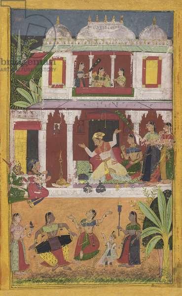 Kalyana Ragini, from Mewar, Rajasthan, c.1700 (opaque w/c & gold on paper)