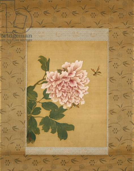Peony and Two Insects, Qing Dynasty, c.1760 (ink & colours on silk)