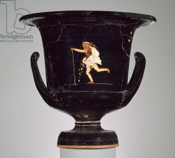 Mixing bowl (phlyax krater) from Apulia, Italy, Late Classical Period, c.350 BC (Gnathia ware)