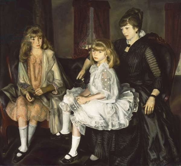 Emma and Her Children, 1923 (oil on canvas)