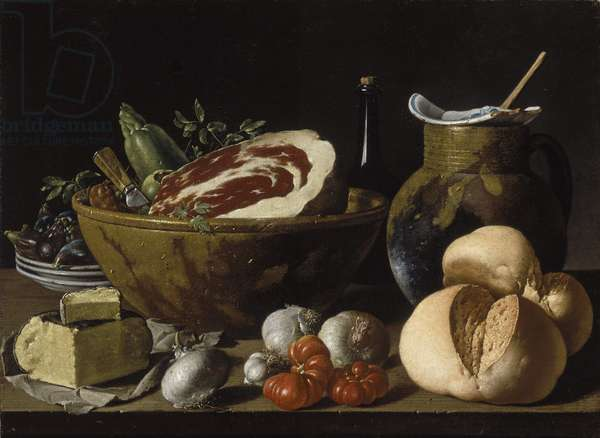 Still Life with Bread, Ham Cheese and Vegetables, c.1772 (oil on canvas)