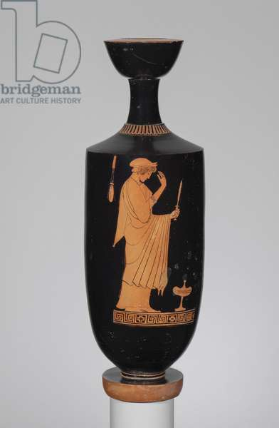 Oil flask (lekythos), c.480 BC (ceramic)