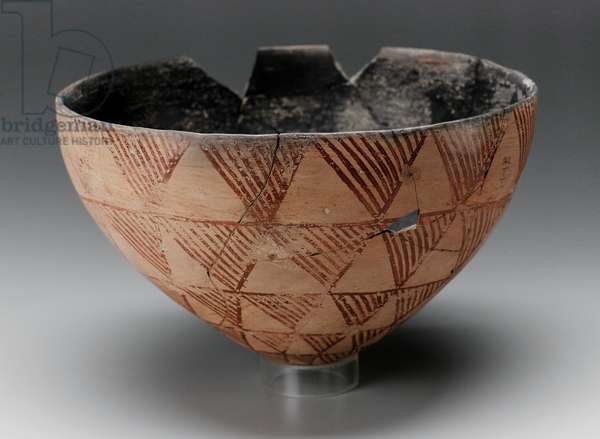 Convex redware bowl, A-Group, 3100-–3000 B.C. (pottery)