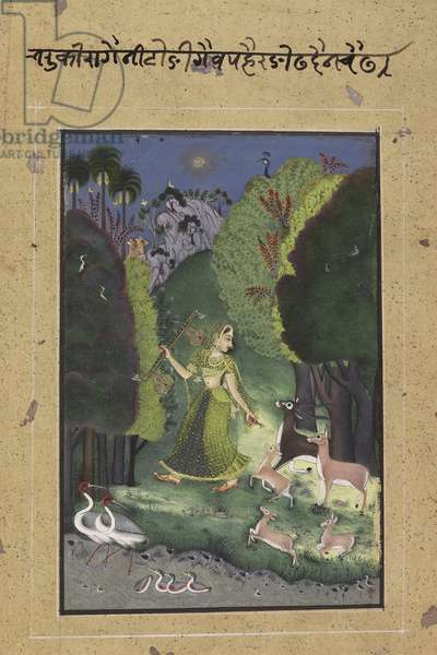 Todi Ragini, c.1760 (opaque w/c, gold & silver on paper)