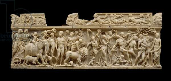 Sarcophagus with triumph of Dionysus, Imperial Period, c.215-55 (marble)