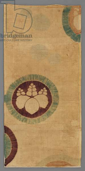 Fragment of a robe (kosode), late 16th-early 17th century (silk plain-weave, cap and stitch resist-dyed)