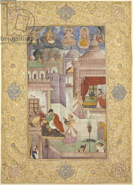 The Birth of Krishna, from Northern India, c.1590 (opaque w/c & gold on paper)