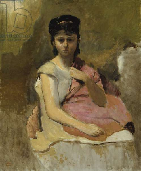 Woman with a Pink Shawl, c.1868 (oil on canvas)