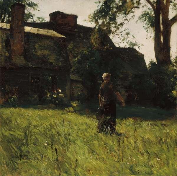 Old Fairbanks House, Dedham, Massachusetts, c.1884 (oil on paper on canvas)