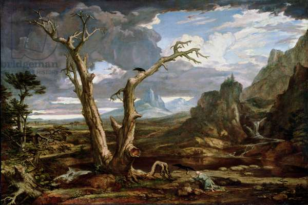Elijah in the Desert, 1818 (oil on canvas)