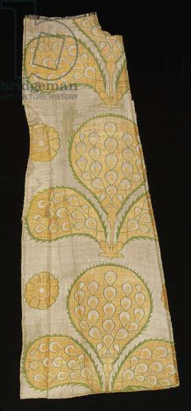 Panel from a garment, first half of the 17th century (silk & metal-wrapped thread compound weft plain weave)
