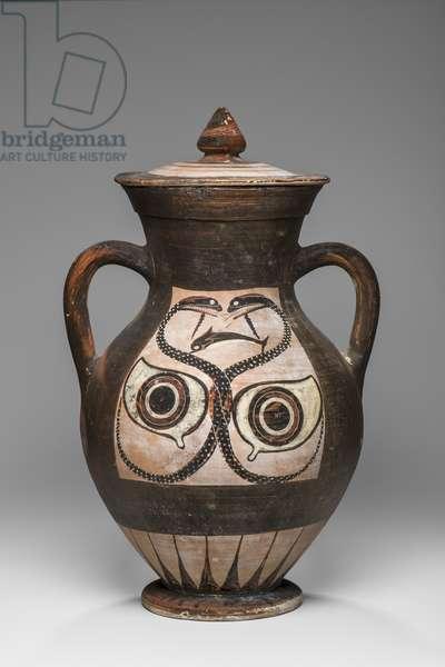 Amphora with lid, c.530 BC (ceramic)