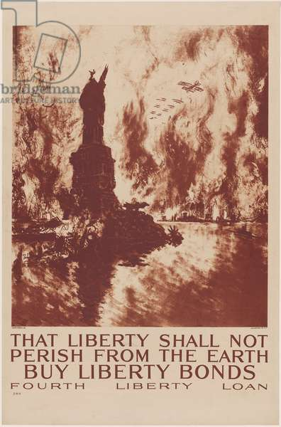 That Liberty Shall Not Perish From the Earth - Buy Liberty Bonds - Fourth Liberty Loan, 1918 (colour litho)