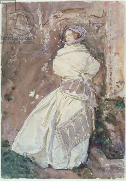 The Cashmere Shawl, 1911 (w/c over graphite, with wax on paper)