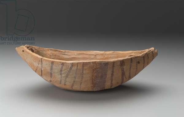 Boat model, Predynastic Period, Naqada II, 3650-–3300 B.C. (marl clay)