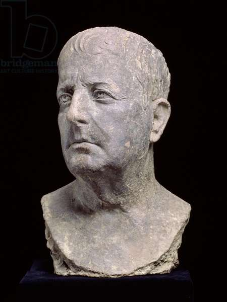 Portrait bust of a man, Late Republican, found at Cumae, Italy, c.50 BC (terracotta)
