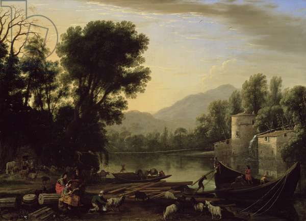 Mill on a River, c.1631 (oil on canvas)