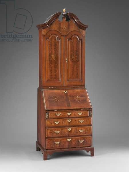 Desk and bookcase, c.1715–-20 (walnut, white pine, mahogany, ebony & satinwood)