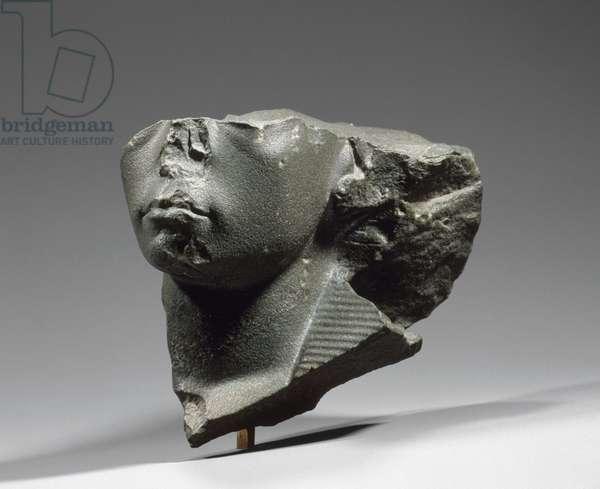 Head of King Amenemhet III, Middle Kingdom, Dynasty 12, reign of Amenemhat I, 1844-–1797 B.C. (greywacke)