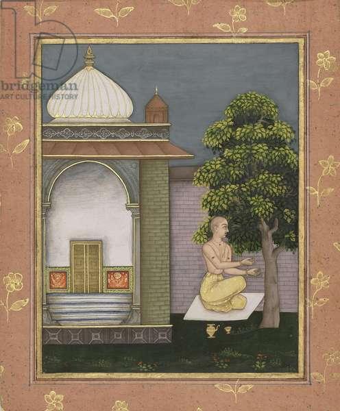 Bangal Ragini, from Bikamer, Rajasthan, 1694 (opaque w/c & gold on paper)