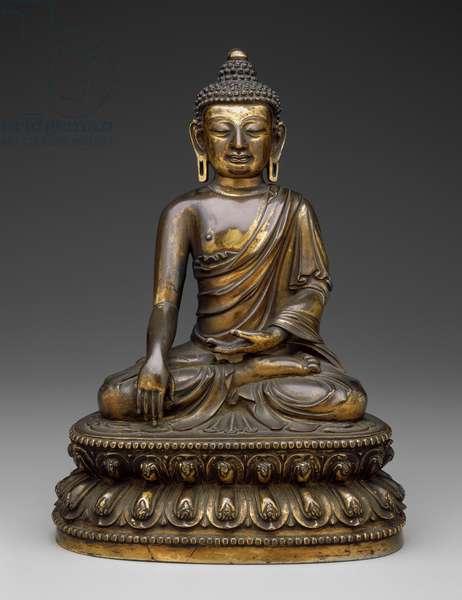 Shakyamuni Buddha, Ming Dynasty, Xuande Period (1426-65) (gilt bronze)