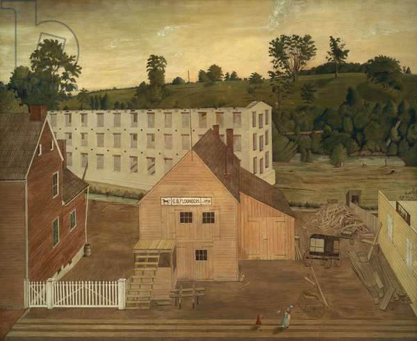 View of Darby, Pennsylvania, After the Burning of Lord's Mill, c.1862-67 (oil on canvas)