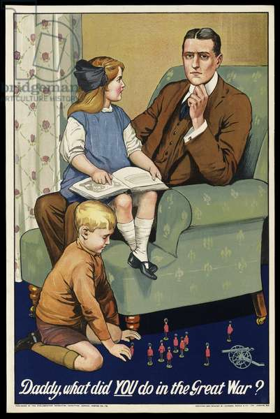 Daddy, What Did You Do in the Great War?, 1915 (colour litho)