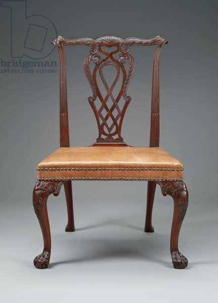Chair, c.1750-60 (mahogany, beech & leather)