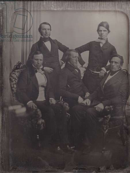 The Massachusetts Reception Committee that greeted Louis Kossuth on his visit to Boston in April 1852, 1852 (daguerreotype)