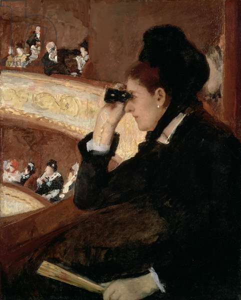 In the Loge, 1879 (oil on canvas)