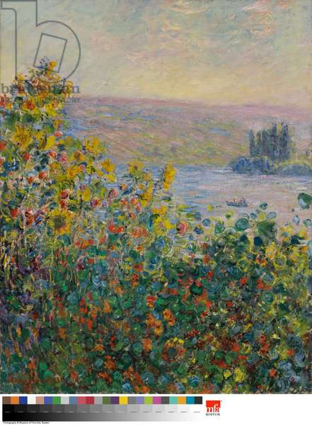 Flower Beds at Vétheuil, 1881 (oil on canvas)