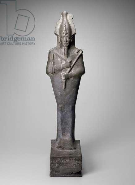 Statue of Osiris, Late Period, 664-525 BC (greywacke)