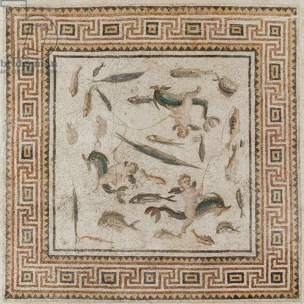 Marine mosaic from Turkey, Imperial Period, 200-230 (mosaic)