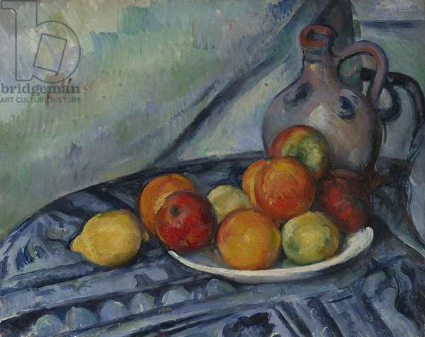 Fruit and a Jug on a Table, c.1890-94 (oil on canvas)