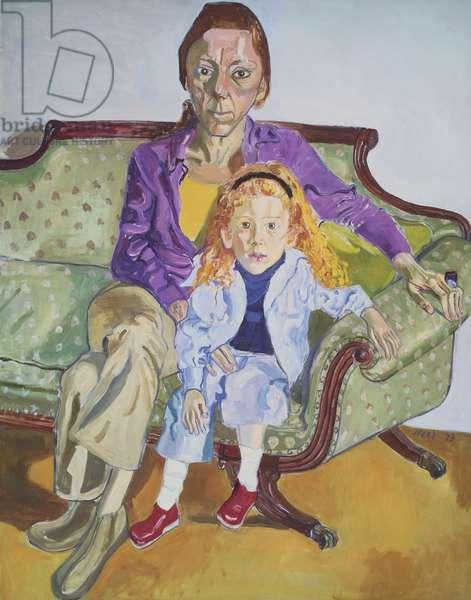 Linda Nochlin and Daisy, 1973 (oil on canvas)