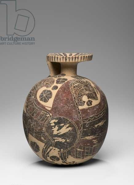 Squat, globular alabaston, c.550 BC (ceramic)