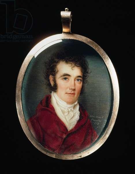 Colonel Richard M. Johnson, 1818 (w/c on ivory)